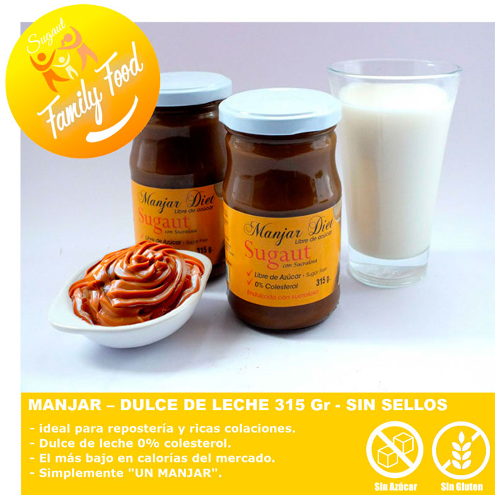 Pack de Alimentos sin Azúcar y sin gluten marca Sugaut, para directorio Dancaru.com