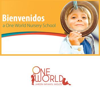 Niño mirando por una rueda, marca One World, para directorio Dancaru.com